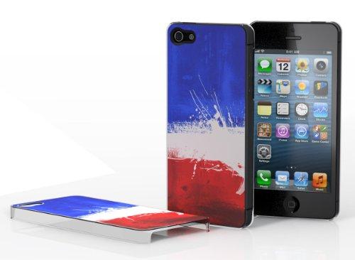 Master Case - Coque iPhone 5 Drapeau Grunge - France