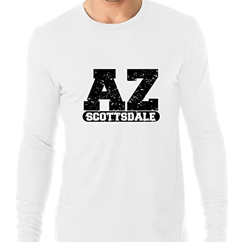 Hollywood Thread Scottsdale, Arizona AZ Classic City State Sign Men's Long Sleeve T-Shirt ()