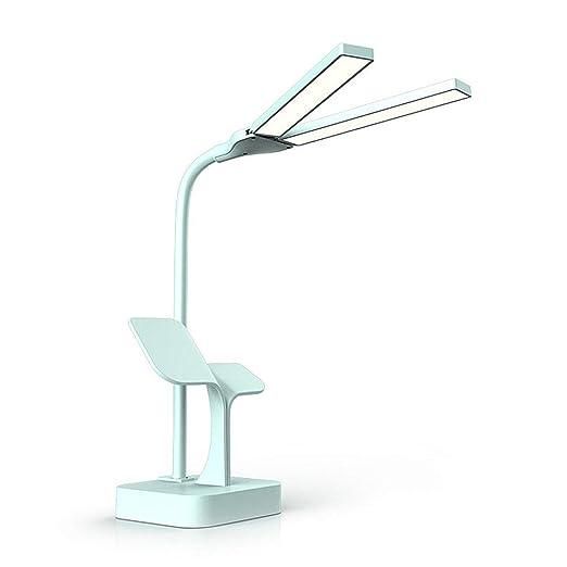 Táctil Escritorio Cabeza Lámpara Plegable Mesa LED Doble De Lq35AjR4