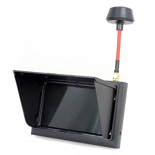 tomlov-f408-43-lcd-av-display-58g-32ch-fpv-monitor-wireless-receiver-wired-500cd-m2
