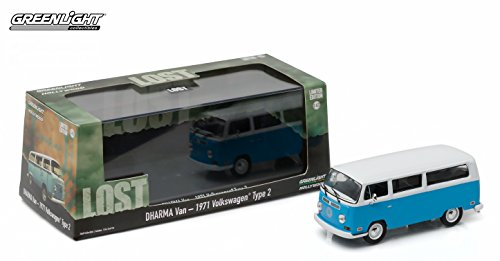 Green Guy From Star Wars (DHARMA VAN 1971 VOLKSWAGEN TYPE 2 from the classic television show LOST 2016 Greenlight Collectibles Limited Edition 1:43 Scale Die-Cast Vehicle & Custom Display Case)