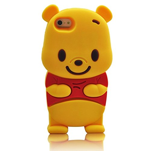 iphone 6 Plus Cartoon Case Silicone iphone 6S Plus,WGOOD 3D Cartoon Animal Winnie the Pooh Bear Soft Silicone Case Protection Cover for Apple iphone 6 Plus/ 6S Plus 5.5inch