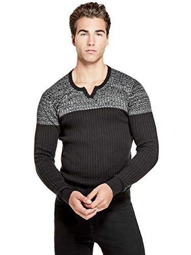 G by GUESS Men's Dublin Color-Block Slit Sweater ()