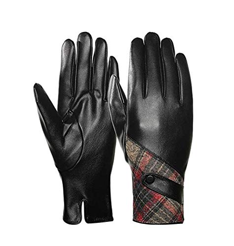 Womens Gloves,Touchscreen Texting Driving,Winter Warm PU Leather Gloves