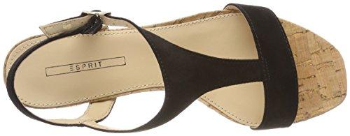 ESPRIT Women's Doris Ankle Strap Sandals Black (Black 001) Evuxlj