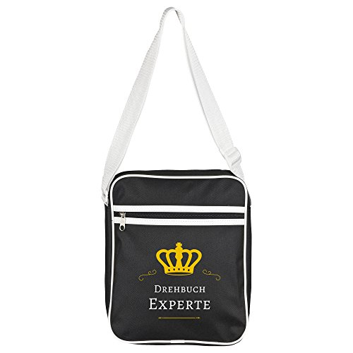 Written Bag Black Retro Shoulder Expert Xp6wxEqqg