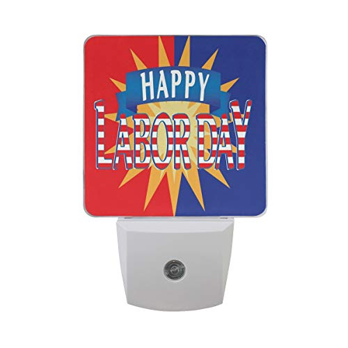 Night Light Custom Personalized Labor Day Pictures Led Light Lamp for Hallway, Kitchen, Bathroom, Bedroom, Stairs, DaylightWhite, Bedroom, Compact