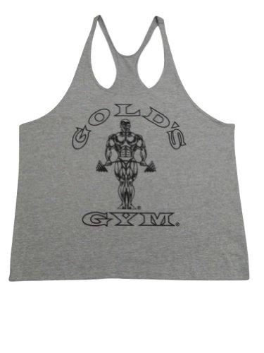 Gold's Gym Stringer Y-Back Tank Top-Grey- XL (Golds Gym Mens Shorts)