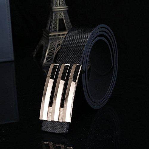 yoyorule Belts Men Women Automatic Buckle Leather Waist Strap Belts Buckle Belt by yoyorule-Fashion Belts (Image #3)