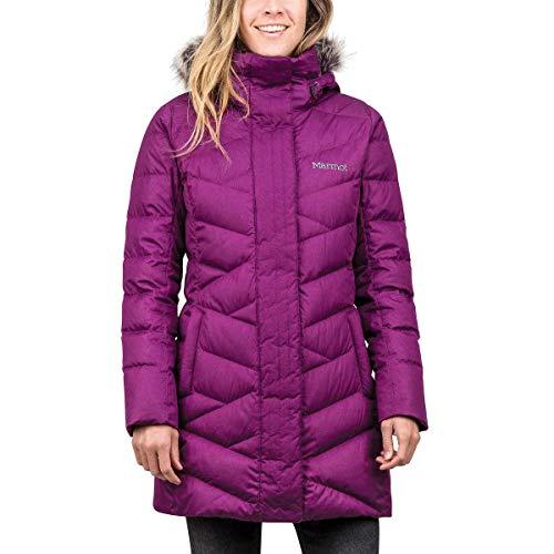 Marmot Women Varma Long Quilted Hooded Down Jacket 1229212 Plum ()