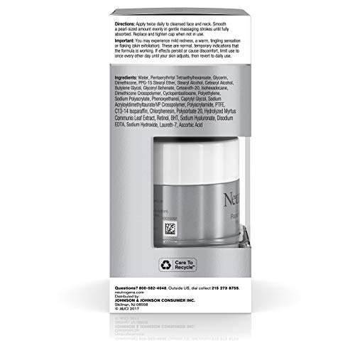 41xDvblCeyL - Neutrogena Rapid Wrinkle Repair Hyaluronic Acid Retinol Cream, Anti Wrinkle Cream, Face Moisturizer, Neck Cream & Dark Spot Remover for Face - Day & Night Cream with Hyaluronic Acid & Retinol, 1.7 oz