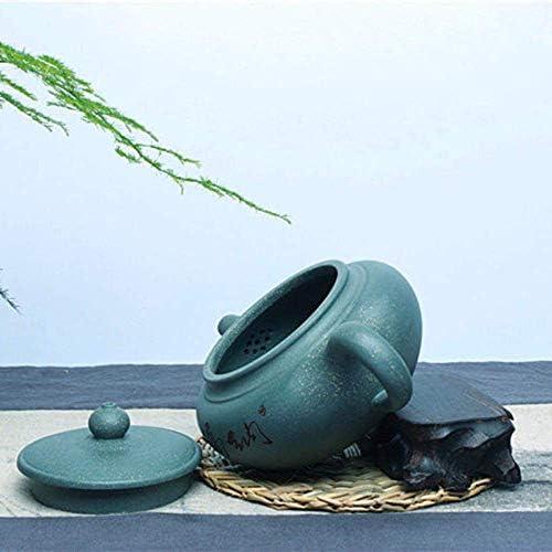 250 ml Authentieke Yixing Theepot Paarse Klei Groene Modder Thee Maker Chinese Kung Fu Thee Set Handgemaakte Zisha Keramiek Fanggu antieke Pot