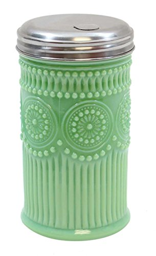 (Tablecraft HJ810 Sugar Shaker with Stainless Steel Top, 3.0625
