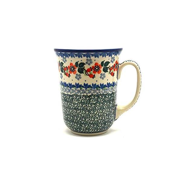 Polish Pottery Mug – 16 oz. Bistro – Cherry Blossom