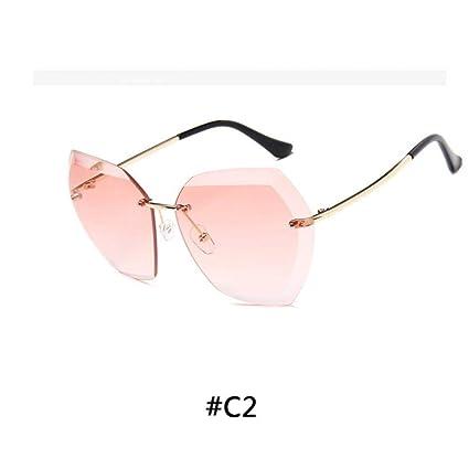 CCGSDJ Gafas De Sol Sin Montura De Lujo De La Vendimia ...
