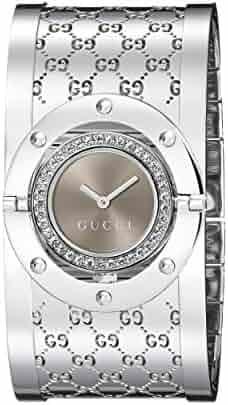 GUCCI Women's YA112416 Twirl Brown Dial Watch