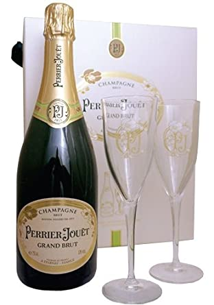 Perrier Jouet Grand Brut Champagne Two Glass Gift Set 75cl