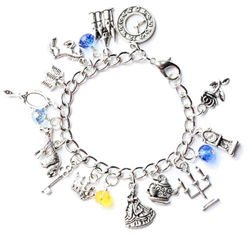 Beauty and the Beast Charm Bracelet (Fairy Tale Theater Beauty And The Beast)