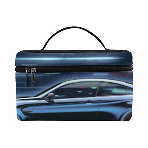 Race Car In Racing Car Track Pattern Lunch Box Tote Bag Lunch Holder Insulated Lunch Cooler Bag For Women/men/picnic/boating/beach/fishing/school/work