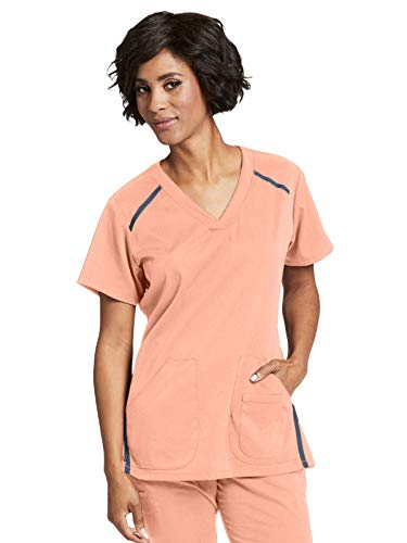 Grey's Anatomy Impact 7188 Elevate Scrub Top Petal Peach M