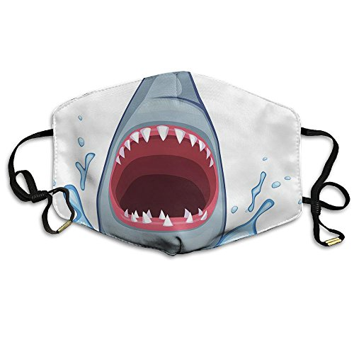 Price comparison product image Shark Attack Breathe Healthy Face Mask Best Comfortable,Reusable - Filters Dust,Pollen,Allergens,& Flu Germs Dust Mask