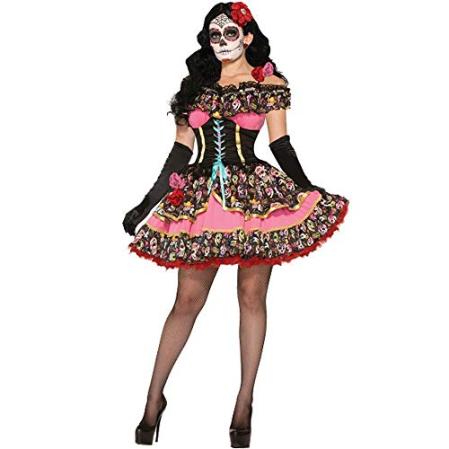 Yunfeng Witch Costume Halloween Costume Makeup Prom Ghost Bride Skeleton Demon Role Play Party Costume -