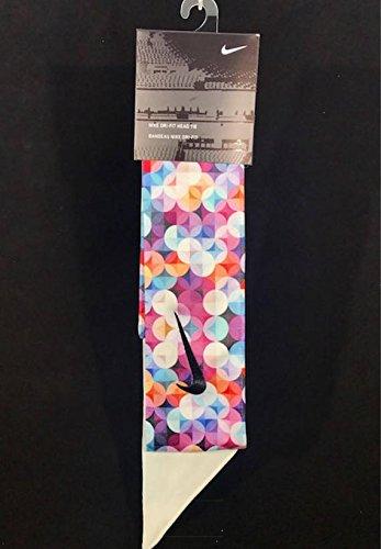 New Cuttom Geo Spheres Nike Dri-Fit Head Tie 2.0 Black Swoosh Headband Pink  White
