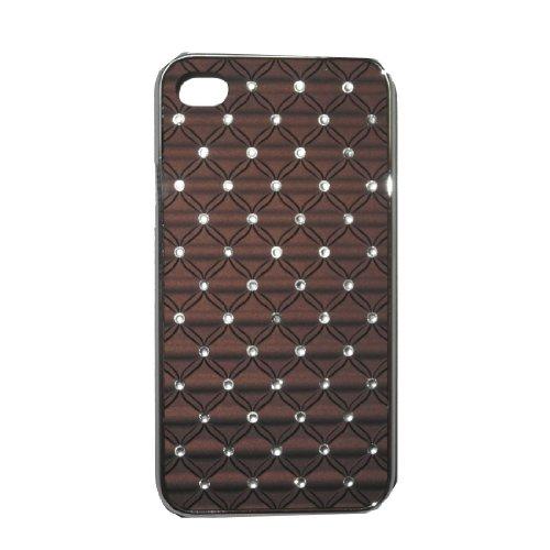 iPhone 4 / Cas 4S: Inlay Diamand peau Hard Cover Protector Case pour Apple iPhone 4 / 4S - noir