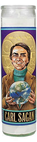 - The Unemployed Philosophers Guild Carl Sagan Secular Saint Candle - 8.5 Inch Glass Prayer Votive - Made in The USA