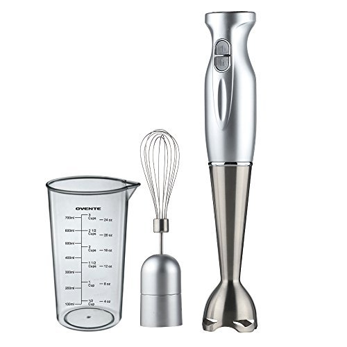 Ovente Kitchen HS583S Stainless Steel Immersion Hand Blender