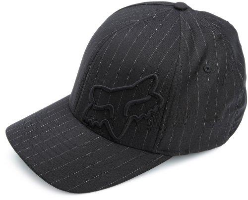 Fox Men's Flex Fit Legacy Logo Hat, Black Pinstripe1, X-Large - Flex Fit Stretch Cap