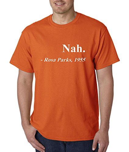 allwitty 1091 - Unisex T-Shirt Nah. Rosa Parks 1955 4XL Orange