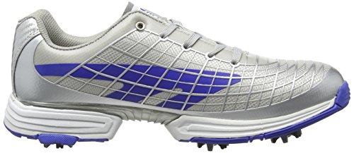 Hi-Tec HT Hybrid Flow Waterproof Mens Cleated Golf Shoes Silver 80wPMA