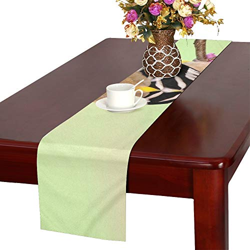 (WBSNDB American Goldfinch Carduelis Tristis On Spring Table Runner, Kitchen Dining Table Runner 16 X 72 Inch for Dinner Parties, Events, Decor)