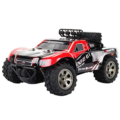 1:18 2WD RC Car,High Speed Racing Off Road Vehicle Toy Remote Control Car for Adults + Kids (1885-A Red) (Outdoor Furniture Imported)