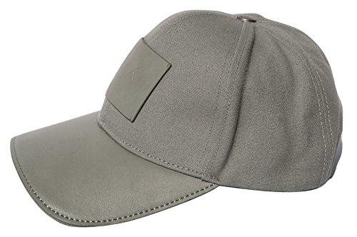 b0d5493b6e6 Amazon.com  Armani Exchange AIX Logo Patch Trucker Full Back Hat Cap in  Allow Grey  Clothing
