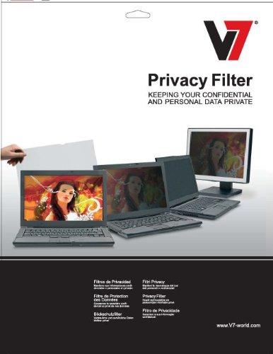 V7 Display Blickschutz Filter Folie für LCD und LED PC Monitore und Notebook bis 55.9 cm (22 Zoll) transparent
