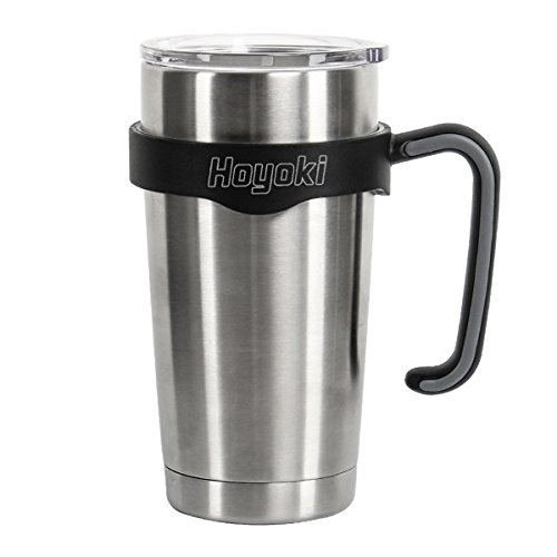 Hoyoki Handle for Yeti Rambler 20 oz Tumblers, Rtic, Sic Cup and more ( Black & Gray )
