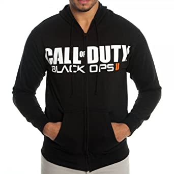 Call of duty black ops ii logo black hoody at amazon mens call of duty black ops 2 logo hoodie sweatshirt xl voltagebd Gallery