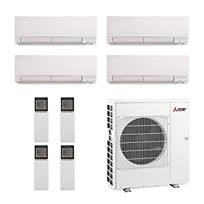 Mitsubishi MXZ-5C42NAHZ-4WF-04 - 42,000 BTU Quad-Zone Hyper Heat Wall Mount Mini Split Air Conditioner 208-230V (9-9-12-15)