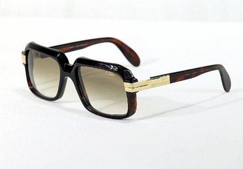 Cazal 607-080 SG Square Sunglasses,Tortoise Frame/Brown Gradient Lens,56 mm