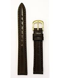 Ladies'Genuine Italian Leather Watchband, Color Brown, Size 12mm, Watchband