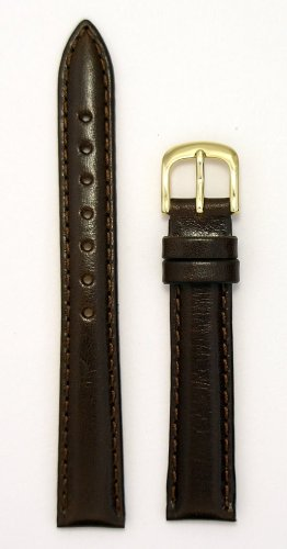 Ladies Genuine Italian Leather Watchband Brown 13mm Watch Band - by JP Leatherworks