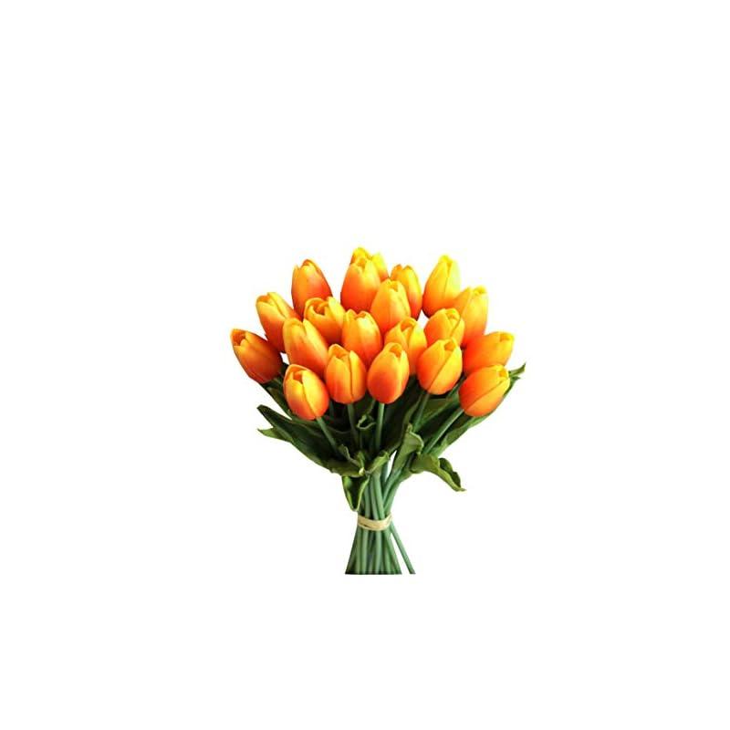 silk flower arrangements mandy's 20pcs sunset artificial latex tulips for party home wedding decoration