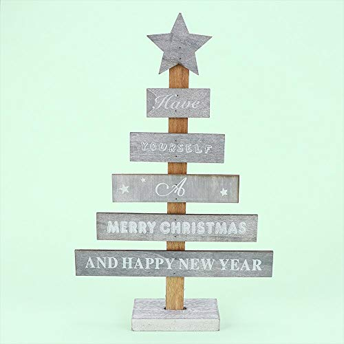 - Trees - 1 Pcs Creative Wooden Merry Christmas Tree Table Decor Pendants Mini Happy Year Home Decoration - Containers Calendar Storage Angel Plastic Balls Winter Pink Sale Craft Advent Tree Natal