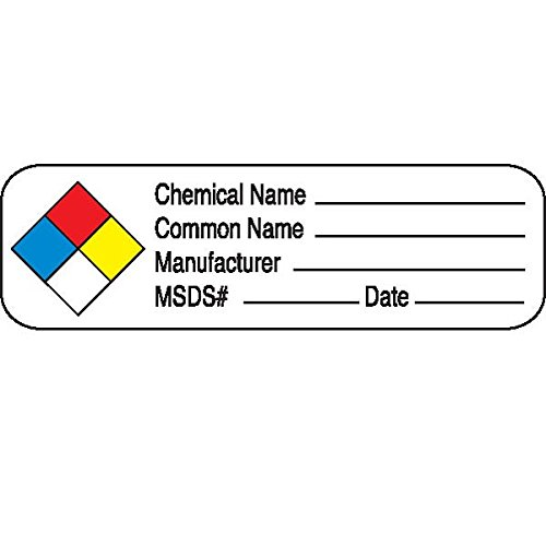 Chemical Hazard Labels Chemical/Common Name Manufacturer MSDS Date by CeilBlue