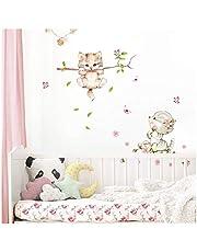 Little Deco Muursticker kinderkamer meisjes 2 katten vlinders I I muursticker kat sticker dieren decoratie babykamer kinderen DL361
