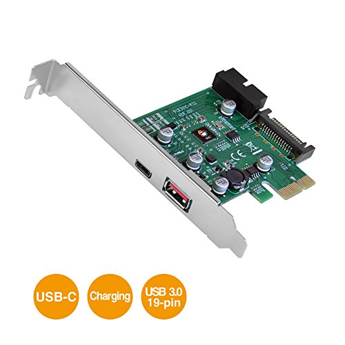 SIIG USB 3.1 (Gen 1) 3-Port PCIe with Charging Port - Type-C Ready by SIIG
