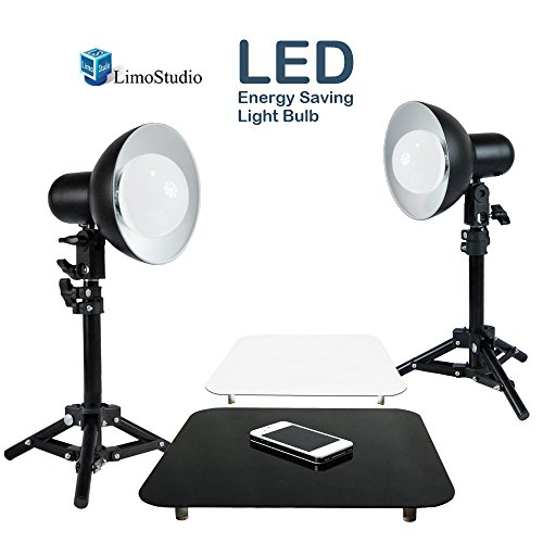 LimoStudio 2 x 18W LED Table Top Lighting Stand Kit with 12