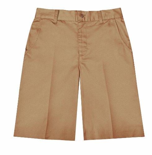 - Classroom School Uniforms Juniors Flat Front Bermuda Short, Khaki, 19/20